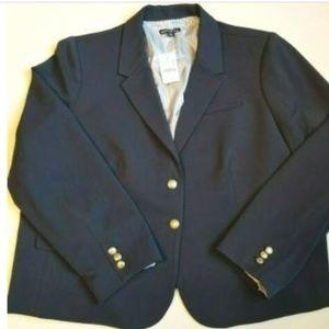 J Crew Mercantile Schoolboy Blazer Size 24 Blue